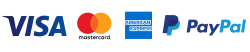 Logos de paiements (visa, mastercard, american express, paypal)