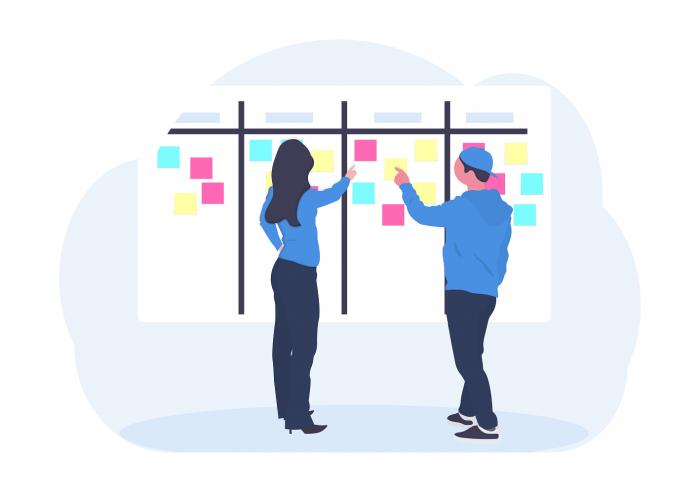Espace de travail pour de la gestion de projet