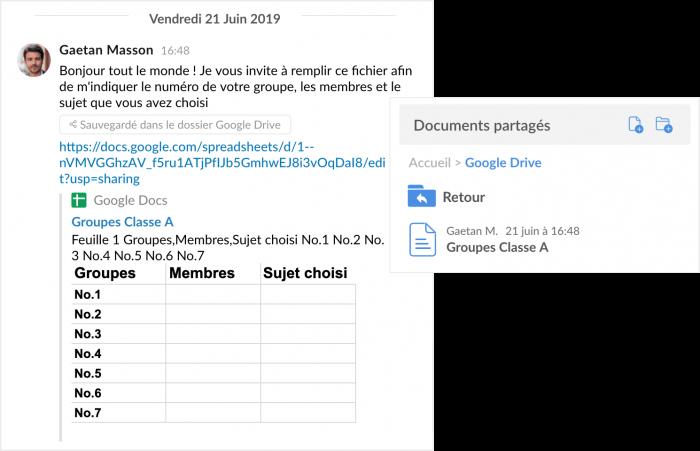 Synchronisation Google Drive